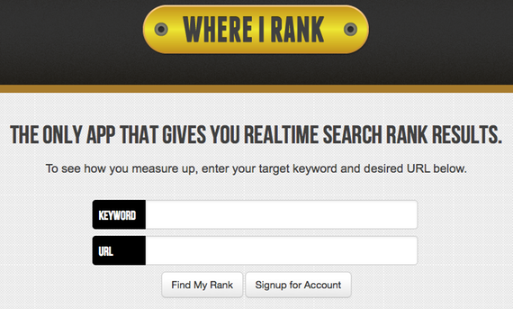 Rank Tracking Tool WhereIRank.com