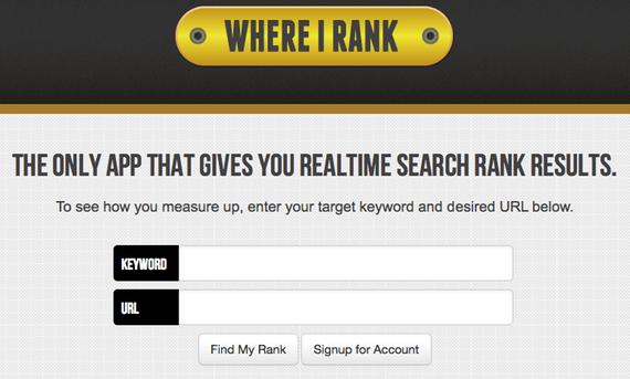 Rank Tracking Tool WhereIRank.com