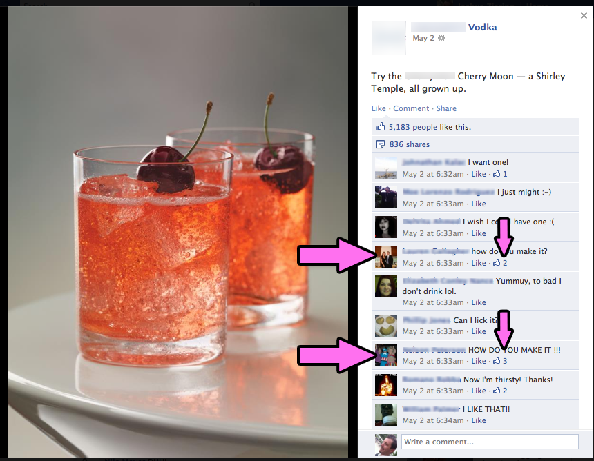 Cherry Moon Drinks On Facebook