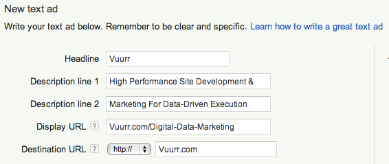 example-adwords-ad-vuurr-marketing